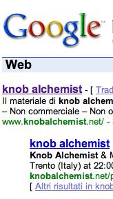 ottimizzazione sito di knob alchemist