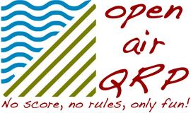Il progetto Open air QRP nasce nel 2011 da un'idea di IN3AQK e IN3EFR,  entrambi appassionati radioamatori in comunicazioni Low Power QRP.  Il sito nasce dall'esigenza di raccogliere le esperienze,  tecniche,  racconti e materiale degli appassionati di attivazioni all'aria aperta in stile QRP.